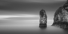 Divided (Rolie.K) Tags: longexposure sea sky blackandwhite bw seascape landscape rocks fineart stack stop le nd 16 flamboroughhead neutraldensity leefilter