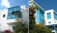 20 TUNISIE Sidi Bousaid-12 (bimbodefrance) Tags: blue azul tunis bleu tunisie moucharabieh sidibousad bowwindow