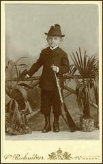 3754 AMN Croatia Osijek Boy hunter year ~ 1900. Ottokar Rechnitzer a