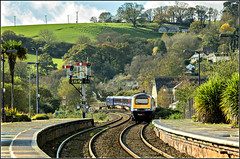 Sleepy Lostwithiel comes to life (david.hayes77) Tags: cornwall firstgreatwestern hst 2014 lostwithiel semaphores fgw class253 1a83