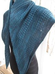 IMG_9959 (SassyKnits) Tags: knitting teal knit merino cashmere shawl knitted zilver muninn capersock stringtheoryhanddyedyarn lisamutch