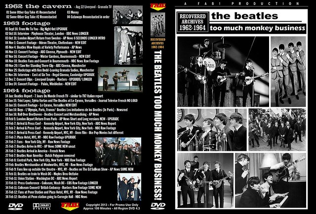 The Beatles Too Much Monkey Buisness Recovered Archives 1962-64