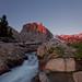 High Sierra Alpenglow Over Big Pine Creek