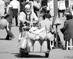14022015-P1170589 (Philgo61) Tags: africa wagon lumix market panasonic plastic maroc marocco souk char souks marché homme afrique bidon charrette médina gf1 vieil 45200