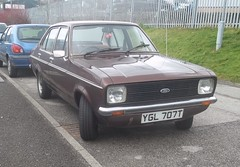 Ford Escort Mark 2 (occama) Tags: old uk 2 two brown ford car cornwall mark plate 1978 reg 1979 mk escort cornish ygl707t