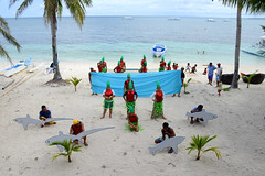 """Traditional Dance"" at Malapascua Island , near Cebu , Philippines (Ben Molloy Photography) Tags: blue trees sea vacation people sun white holiday beach water sunshine island dance nikon asia warm paradise skies ben south traditional philippines palm east clear tropical cebu molloy phillipines malapascua benmolloy benmolloyphotography benmolloyhongkong"