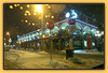 Downtown Nite Lights (bigbrowneyez) Tags: windows winter light snow canada building me beautiful architecture night reflections fun pub downtown doors moody colours bokeh ottawa atmosphere neve charming playful notte shimmering delightful silvana thebywardmarket paintnite downtownnitelights
