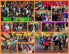 PicMonkey Collage (eventures_w.ricki) Tags: party music halloween dance familyfun ymca thriller naturecenter richfield chickendance picmonkey eventureswricki rickilou