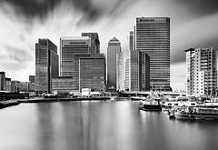 London-Skyline (petefoto) Tags: london skyline clouds filters canarywharf barges officeblocks nikond810 bwpolariser lee09sgrad bwnd110bw