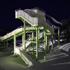 (briyen) Tags: winter snow water japan hokkaido slide structure escheresque rusutsu 2015