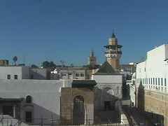 Sidi Youssef Mosque Minaret over Tunis
