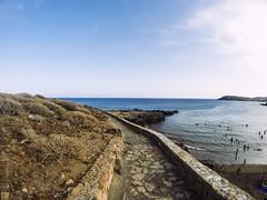 Caminos (Kybenfocando) Tags: travel sea summer beach landscape island mar spain paisaje canarias verano tenerife traveling canaryislands isla viajar gopro