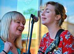 Emily Blue and Guest at Friday Night Live in Champaign, Illinois (forestforthetress) Tags: street musician music woman festival female concert women guitar outdoor song duet gig singer champaign fridaynightlive enjoyillinois northforty travelillinois
