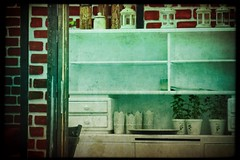 4+4+3 still life sketch (kazimierz.pietruszewski) Tags: stilllife border white green plants dresser drawers shelves