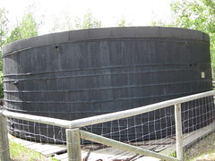 Storage tank for petroleum (jamica1) Tags: calgary heritage park oil petroleum alberta canada