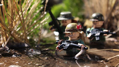 'Nam (Kyle Hardisty) Tags: california lighting macro brick field grass animal rock canon kyle photography war rocks arms lego fig outdoor lakes mini vietnam dirt mammoth marlboro custom twigs depth m16 nam minifigure 2016 brickarms hardisty