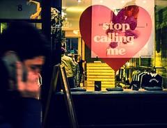 Stop Calling Me Mk 2 (italiastar) Tags: street uk urban reflection london shop photography phone carnaby valentines