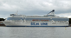 Silja Symphony in Helsinki harbour Finland (David Russell UK) Tags: silja symphony cruise ship liner vessel boat vehicle ferry passenger moored helsinki finland line stockholm outdoor water sea ocean port maritime