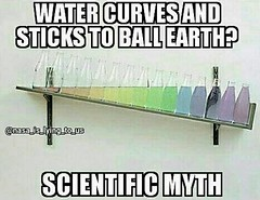 Water Curves And Sticks To Ball Earth? (ipressthis) Tags: sun moon water ball sticks truth flat dome bible curve yinyang memes myth curvature scientific flatearth firmament nocurve flatearthonline