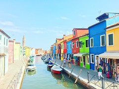 The Colorful Island of Burano (Carolyne Sysmans) Tags: italy burano europe venice homes home architecture colorful colors boats water canal canals church cute island islands iphoneonly iphone6s iphone apple photography lace city town lifestyle