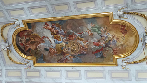 Reggia Caserta - Bourbon royal palace, guard salon ceiling