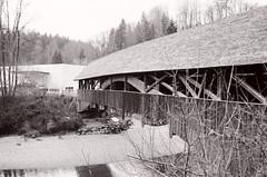 Bridge 1779 (Ursus Bear) Tags: wood bridge blackandwhite bw white black film monochrome analog 35mm canon vintage eos mono blackwhite outdoor monochromatic historic xp2 chrome 400 650 135 ilford ef f3545 3570 ilfordxp2400super bwfp