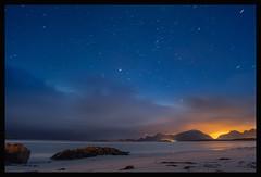 Lofoten, Norway (Lollo Riva) Tags: sea sky white beach norway stars sand long exposure lofoten