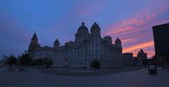 Good Morning Liverpool! (Non Paratus) Tags: uk england sky liverpool sunrise threegraces merseyside royalliverbuilding portofliverpoolbuilding cunardbuilding