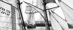 Passage de La Recouvrance, Brest 2016 (chripony29) Tags: sea bw mer port sailing ship nb brest sail voile coque 2016 mt vieuxgrements larecouvrance radedebrest ftesnautiques ftesmaritimes canoneos5dmarkiii brest2016