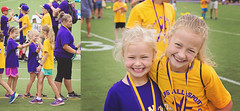 365 Project - July 15 (lupe1515) Tags: camp sports sisters project gold purple olivia hannah highfive 365 loras lorasallsportscamp