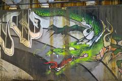 Chicago (pictopix) Tags: chicagojuin2016 dragon vert green feu fire monstre monster crature streetart peinture colors mur wall