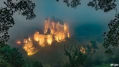 Burg/Castle Eltz, Germany (Springer@WW) Tags: burg castle eltz mist fog nebel rheinlandpfalz germany deutschland longexposure langzeitbelichtung nature natur landscape sony alpha7 lights lichter