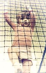 Caged Cutie (jayneboo) Tags: littlerascals playbarn norah odc leadinglines overprocessed film vintage nik grain