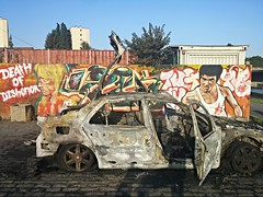 death of dishonor (NiCoLaS OrAn) Tags: graff burned car 93 suburb paris banlieue