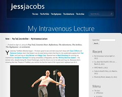 My Intravenous Lecture | Jess' Juxtapositions (20130426)