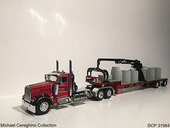Diecast replica of Lefebvre & Sons Kenworth W900, DCP 31984 (Michael Cereghino (Avsfan118)) Tags: lefebvre and sons kenworth kw w900 w 900 daycab lowboy pipe load diecast replica die cast promotion promotions dcp 31984 scale 164 model toy semi truck