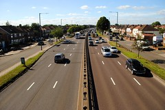 Westbound A40 traffic (zawtowers) Tags: capital ring section 8 walk sunday 11th september 2016 sunny sunshine afternoon osterleylocktogreenford amble stroll walking exploring london blue sky a40 bridge westbound traffic three lanes safe crossing