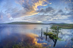 Don't you fall (pauldunn52) Tags: north uist loch hosta sunrise reflection scotland outer hebrides