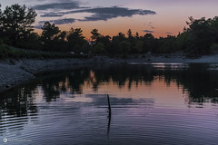 Dimming Light (nikhrist) Tags: lake sunset trees reflections dimminglight beletsi parnitha attiki greece nickchristodoulou
