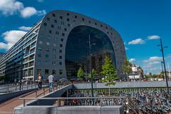 Rotterdam Markthal and bikeparking Blaak (Peter van Dongen) Tags: rotterdam markthal blaak bikeparking
