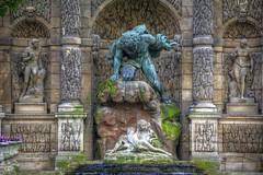 Detail, La fontaine Mdicis (gr8fulted54) Tags: tonemapped hdr photomatix on1 nikon d7100 art sculpture paris