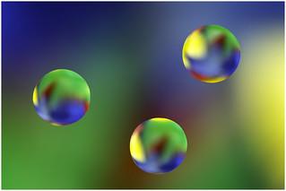 Macro Mondays - Backlit - Oil Drops on Glass