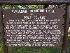 IMG_2958 Keweenaw Mountain Lodge  sign (jgagnon63@yahoo.com) Tags: keweenawpeninsula keweenawcounty copperharbor coppercountry keweenawmountainlodge cccproject wpa sign signboard text words fdr cwa depressionera pubicworks
