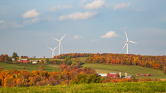 The old and the new (John Getchel Photography) Tags: newyork barn fallcolor farmland rollinghills windmill