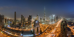 Dubai - The Centre of now (stefanschaefer90) Tags: dubai skyline cityscape vae uae emirates burj khalifa downtown rooftop night