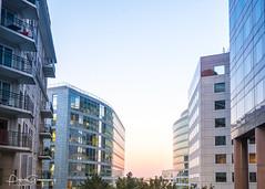 Nanterre Office Blocks At Sunset (Peter Greenway) Tags: towerblock architecture parisien businessbuilding officeblock reflection paris modernarchitecture reflective france