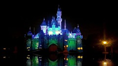 Spooky Castle 2 (joe Lach) Tags: spookycastle halloween castle sleepingbeautycastle disneyland decorations projections night lights show aneheim california water joelach