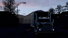 W900 after a coffee break in the 24h diner (atsworld) Tags: kenworth w900 american truck simulator ats