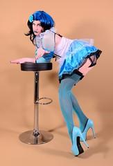 100X2L (klarissakrass) Tags: costume crossdress heels stockings travestie sexy