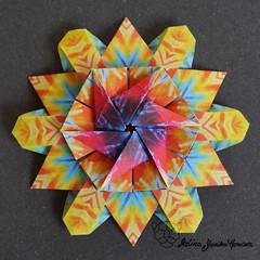 Iimori Flower D (Day 4) (Yureiko) Tags: yureiko tessellation papierfalten papier origami paperfolding paper